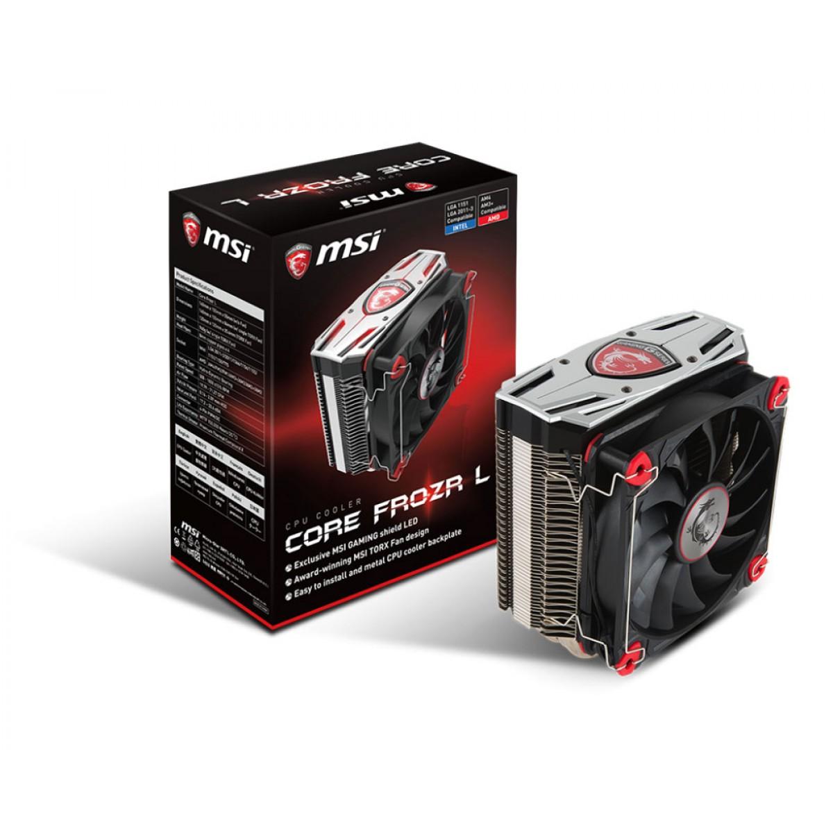 MSI CORE FROZR L CPU Air Cooler 200w