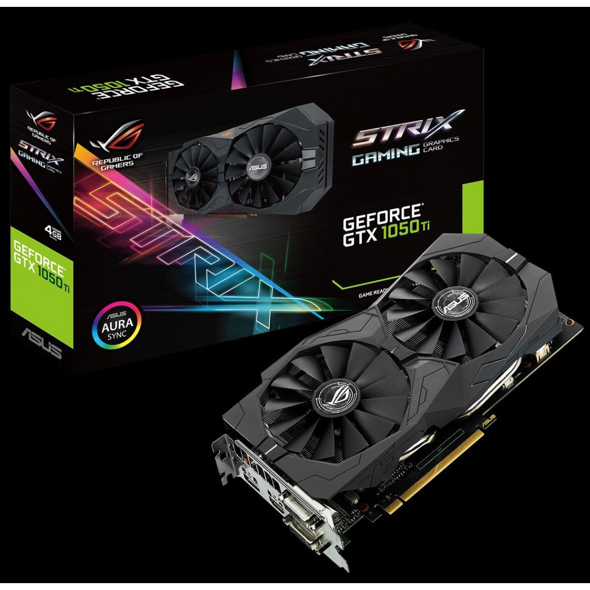 ASUS GTX1050Ti Strix  4GB DDR-5  Graphics Card