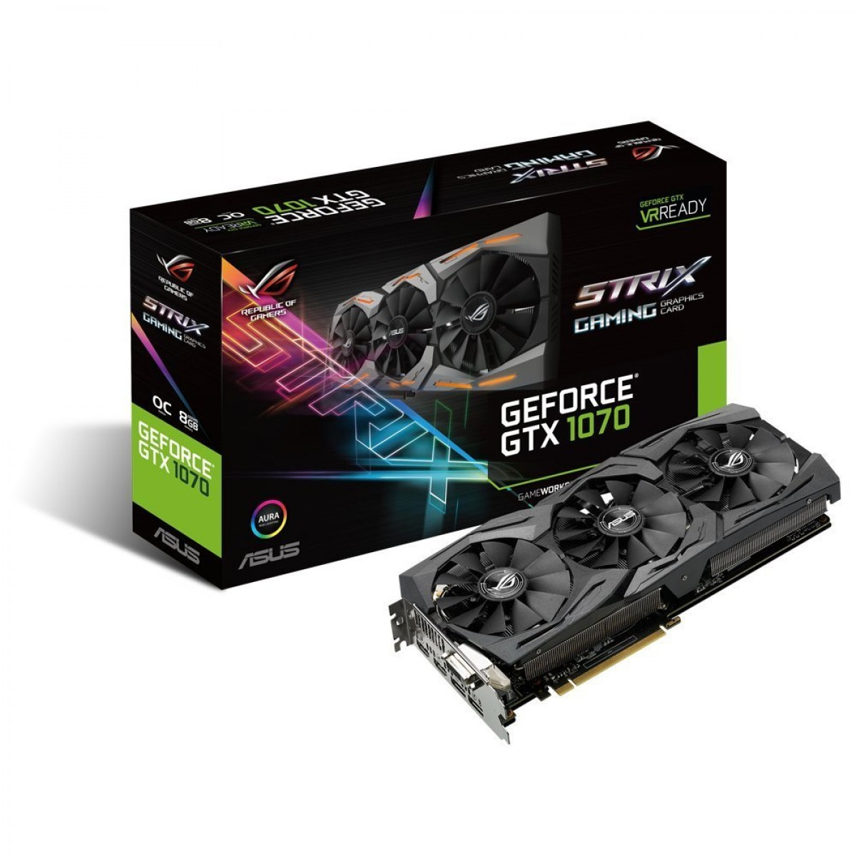 ASUS GTX1070 Strix OC 8GB DDR-5  Graphics Card