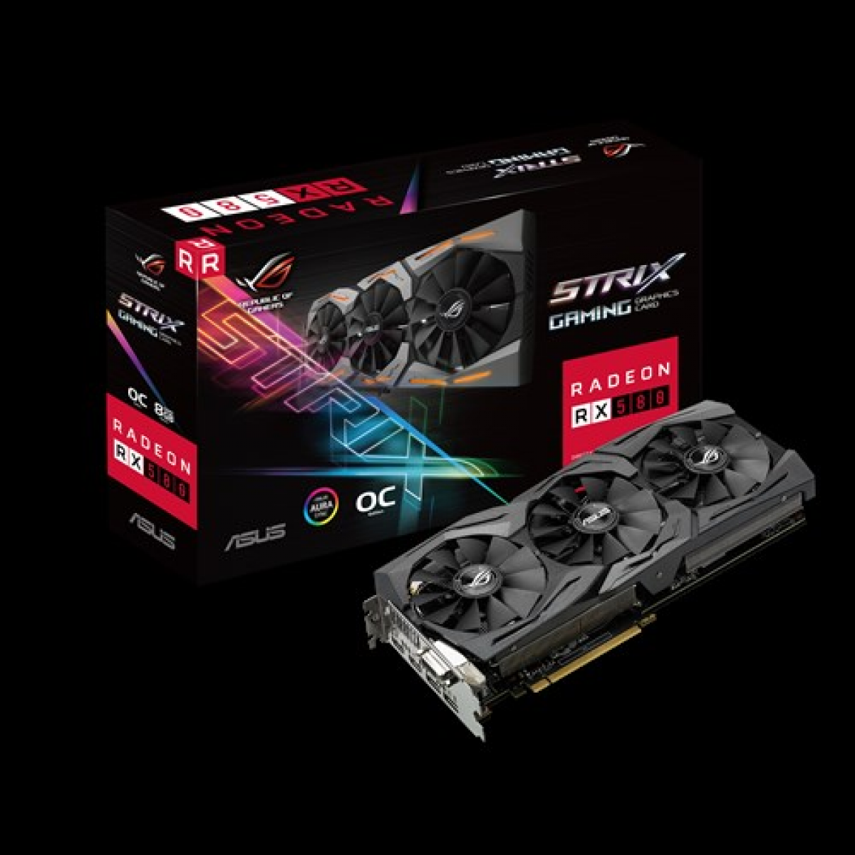 ASUS RX 580 Strix OC Edition ROG 8GB DDR-5 Graphics Card