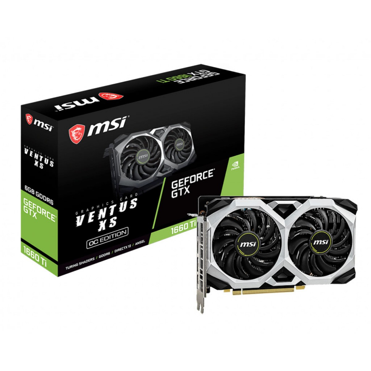 MSI GTX1660TI Ventus OC 6GB DDR-6  Graphics Card