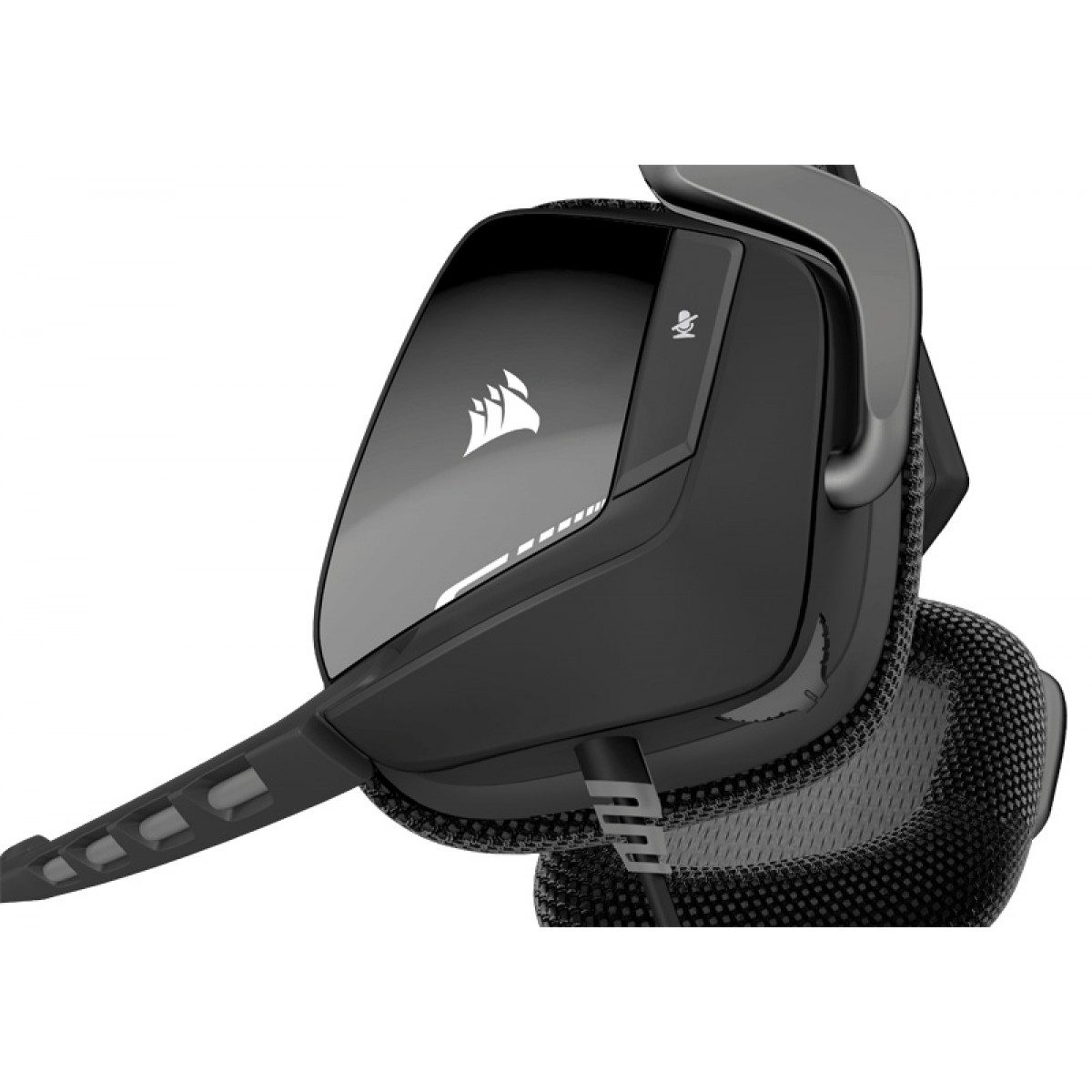 Corsair VOID Surround Hybrid Stereo Gaming Headset with Dolby 7.1 USB Adapter - Carbon