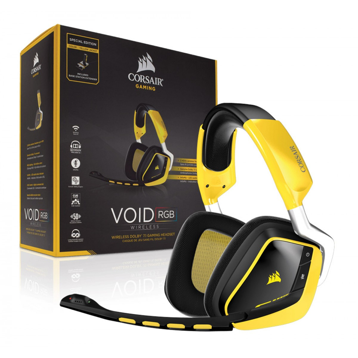 Corsair VOID Wireless 7.1 RGB Yellowjacket Gaming Headset