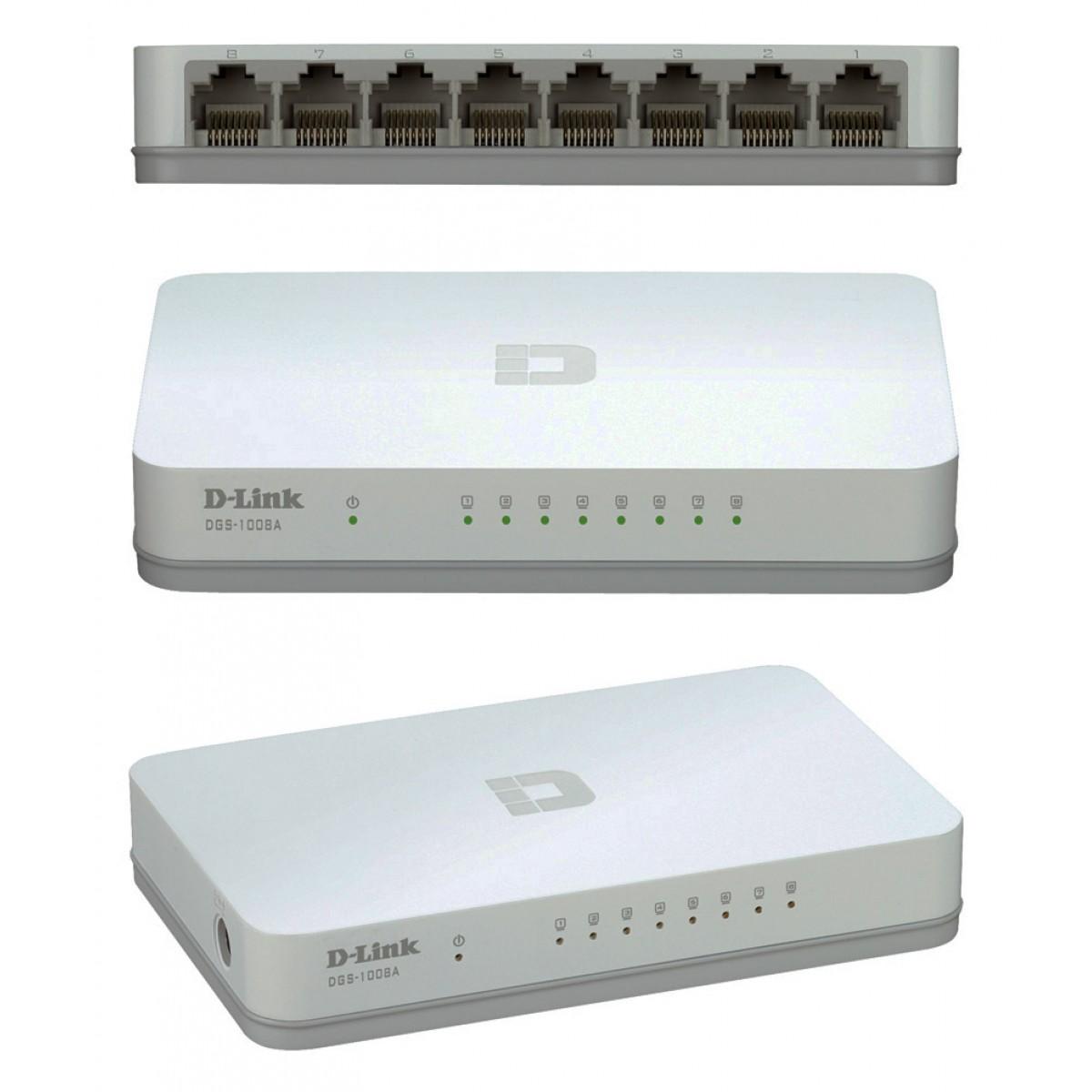 D-LINK 8 Port Unmanaged Gigabit Switch