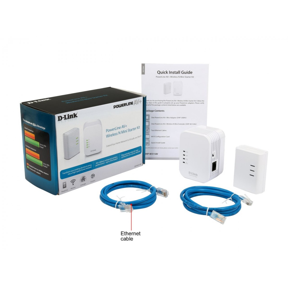 D-LINK DHP-W311AV Power Line Wireless Kit