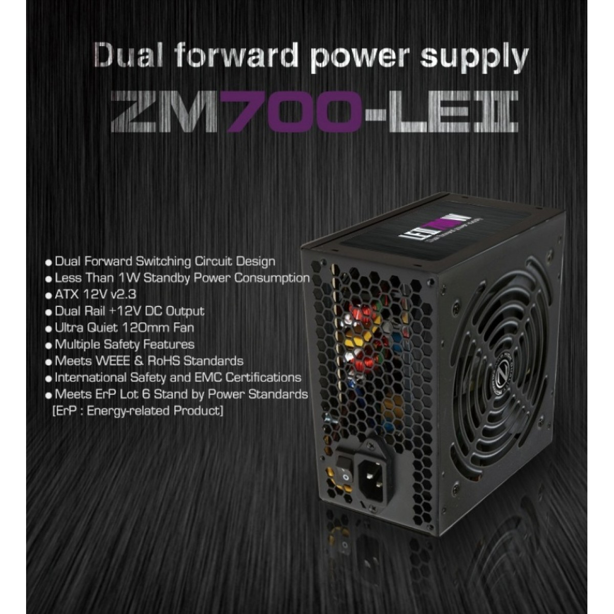 Zalman Zm700leii 700w Power Supply Taipei For Computers Jordan 12v Dual