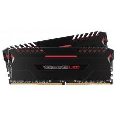 CORSAIR Vengeance LED Red 16GB DDR-4 3000MHz (8GBX2) Kit Memory
