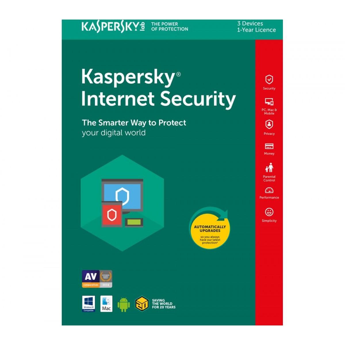 KASPERSKY Internet Security 2018 1+1 Free