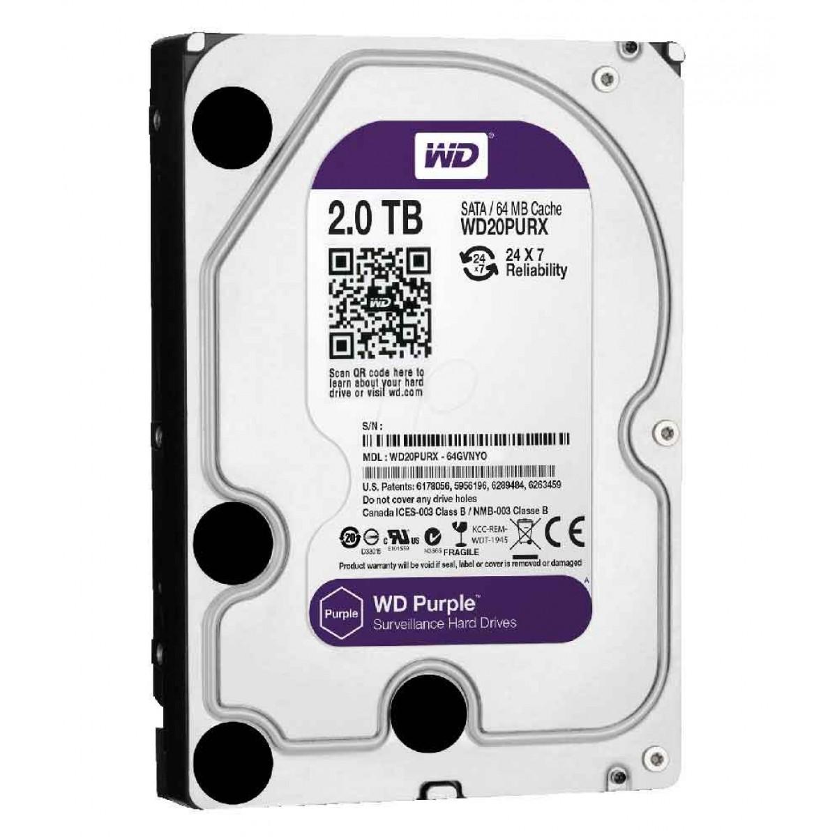WD 2TB Purple Surveillance Hard Drive