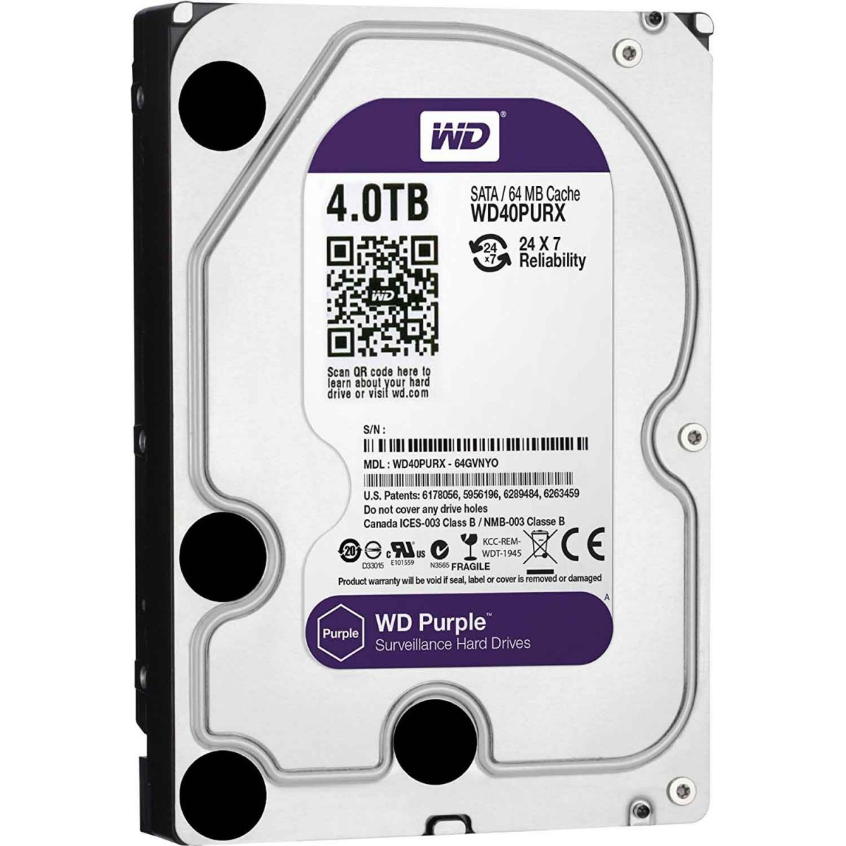 WD 4TB Purple Surveillance Hard Drive