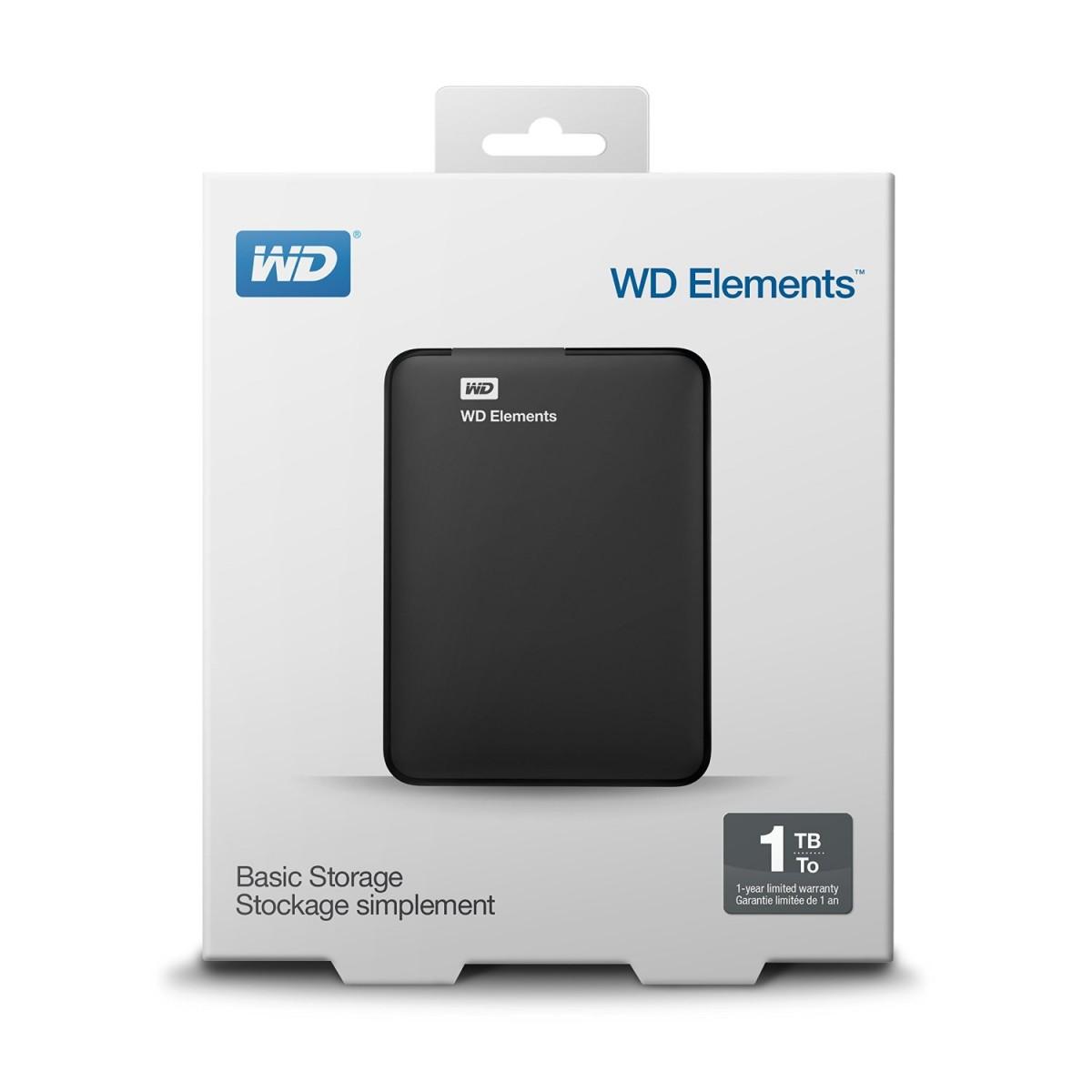 WD 1TB Elements External USB3.0 hard drive