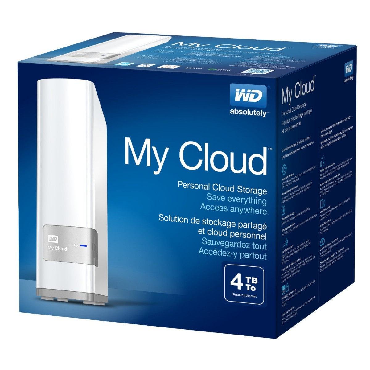 WD 4TB My Cloud External NAS Hard Drive
