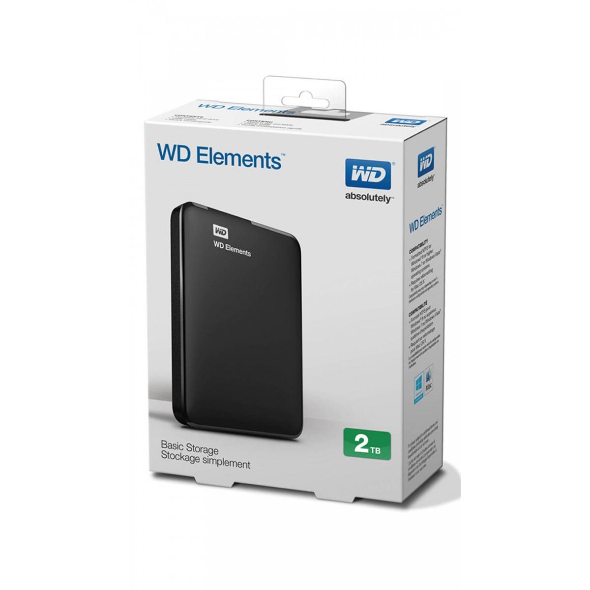 WD 2TB Elements External USB3.0 hard drive