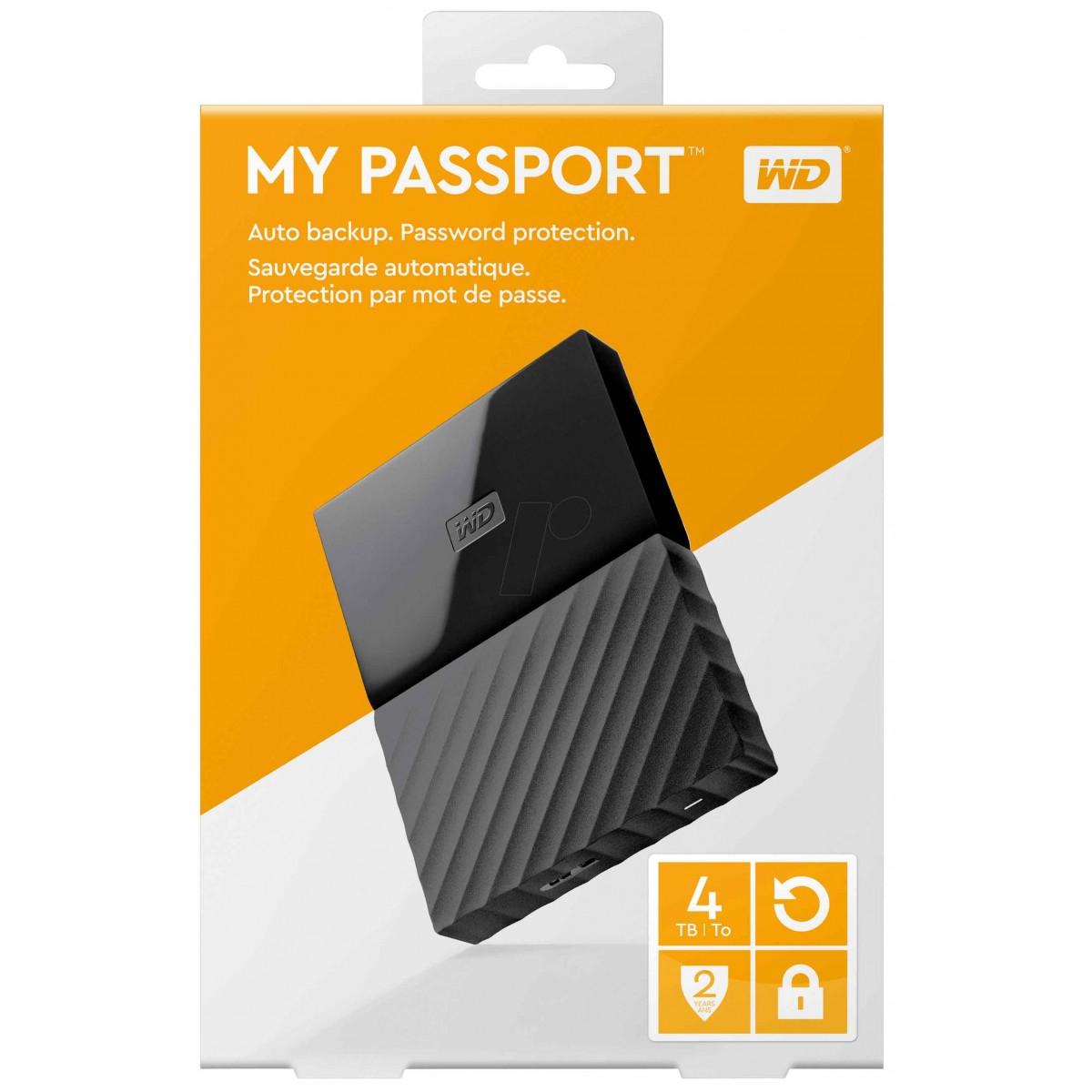 WD 4TB My Passport External USB3.0 Hard Drive
